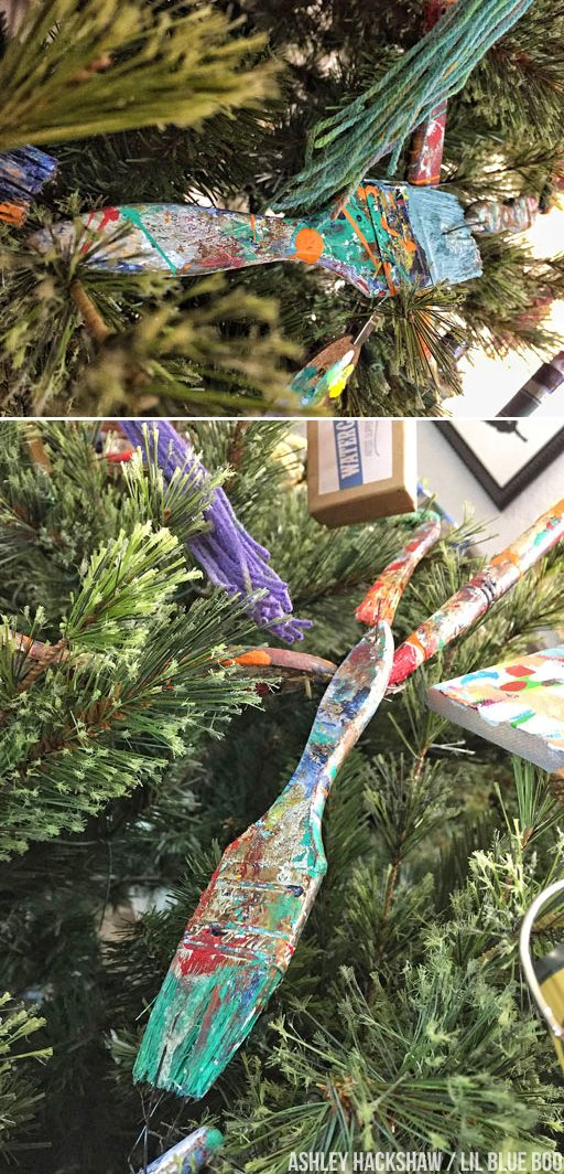 Paintbrush Garland – How to Make a Garland with Paintbrushes