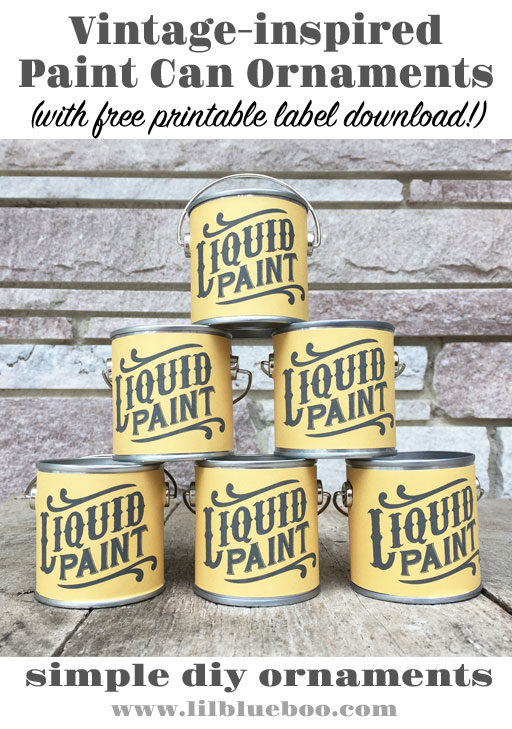 DIY Paint Can Ornaments for an Art-themed Christmas Tree