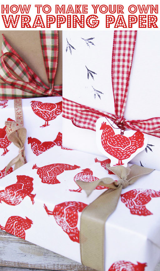 Chicken themed wrapping paper