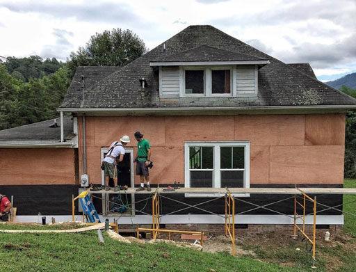 Prepping the farmhouse for siding