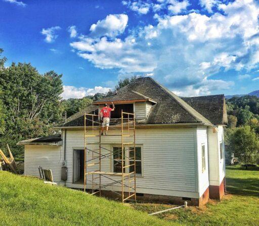 Farmhouse renovation progress - Smoky Mountains airbnb
