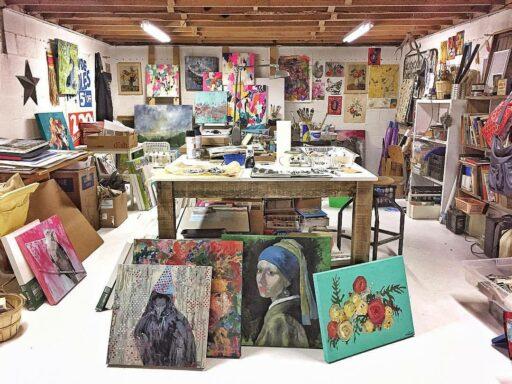 Art studio after - Basement renovation to art studio