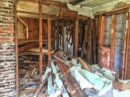 Our Farmhouse Renovation - Modernizing the Farmhouse Floor Plan - Demolition Stage