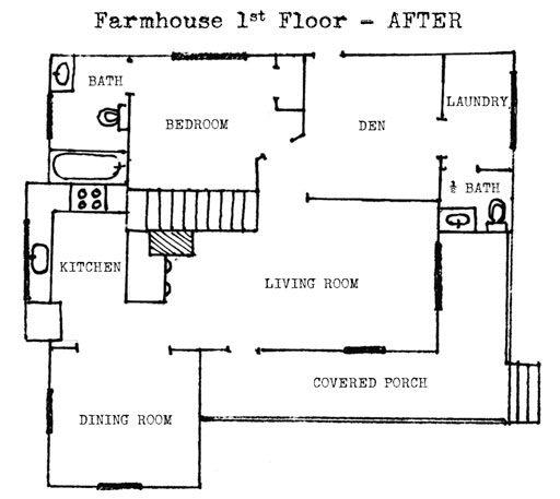 Farmhouse floor plan 1st floor after renovation