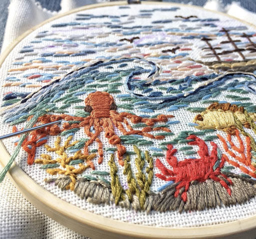 Travel Embroidery Art – New England Inspired Stitch Work