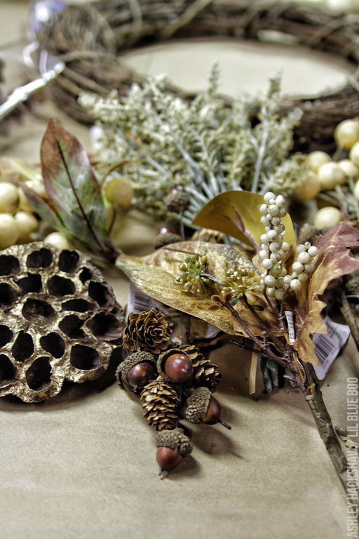 How to make a wreath - DIY floral elements