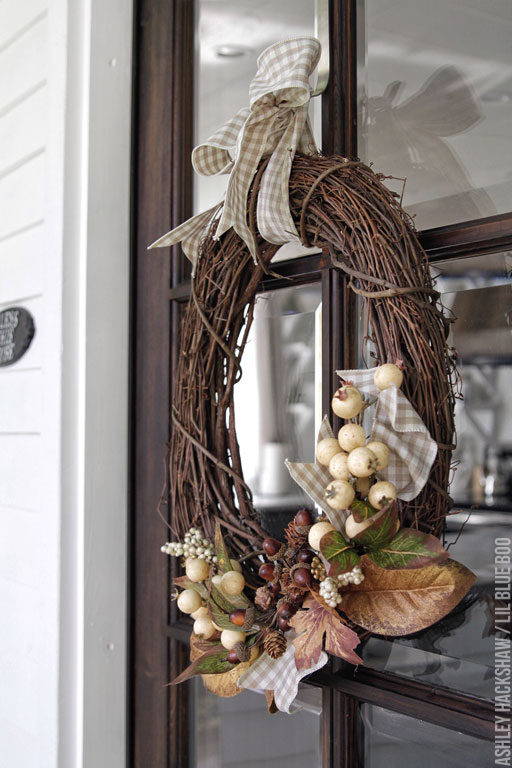 Fall Wreath Ideas - Farmhouse Wreath Grapevine