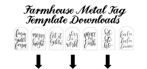 Galvanized Metal Tag Ornaments – Calligraphy Template Downloads