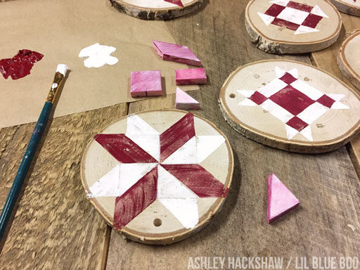Farmhouse Quilt Ornament Tutorial