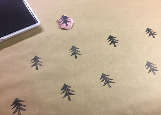 Printing on Paper - DIY Gift Wrap