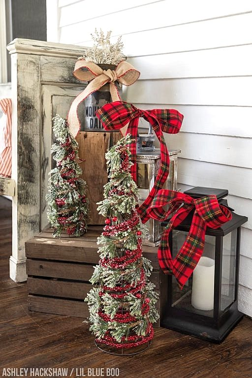 front porch christmas decorations ideas