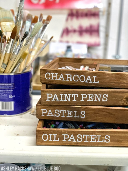 Art Supply Organization - Vintage Inspired Art Supply Trays