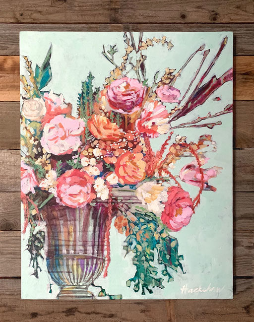 Floral Still Life Painting by Ashley Hackshaw
