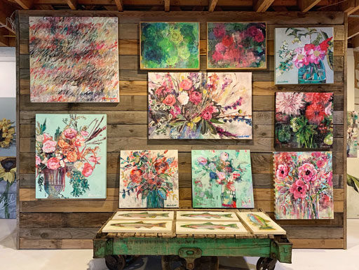 Paintings by Ashley Hackshaw - February 2019 - Abstract Floral Paintings