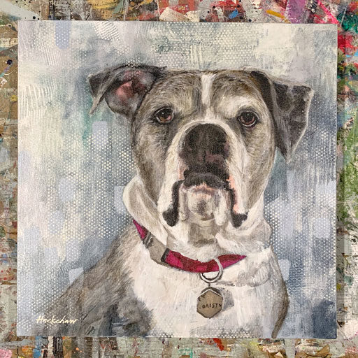 Pet Portraits by Ashley Hackshaw - Dog painting