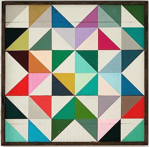 Modern colorful barn quilt pattern design