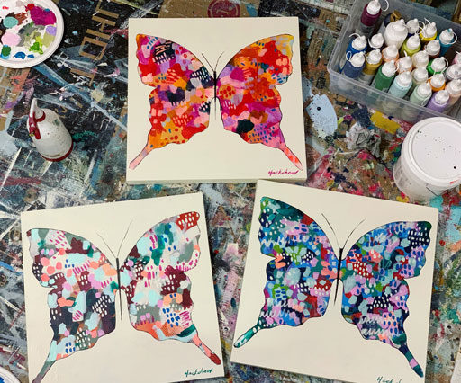 butterfly artwork - butterfly paintings
