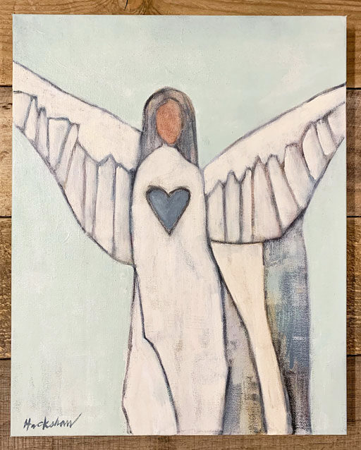 Angel Prints and New Paintings by Ashley Hackshaw