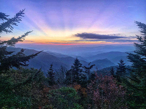 Waterrock Knob Sunset - Great Smoky Mountains