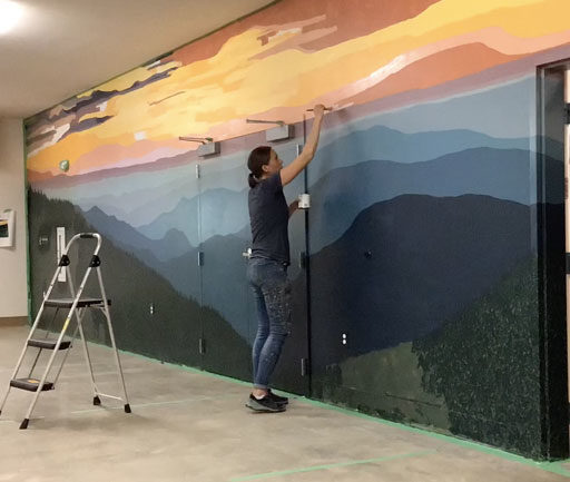Time Lapse of Mural Painting at YMCA Camp Watia