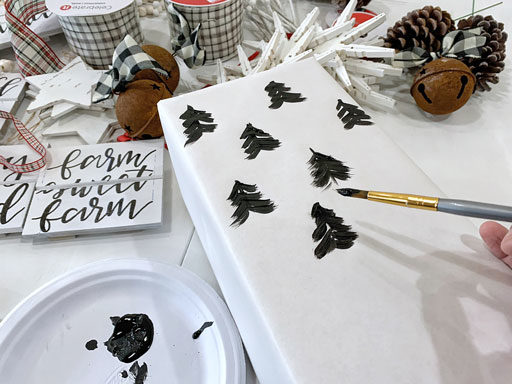 black and white Christmas wrapping paper DIY
