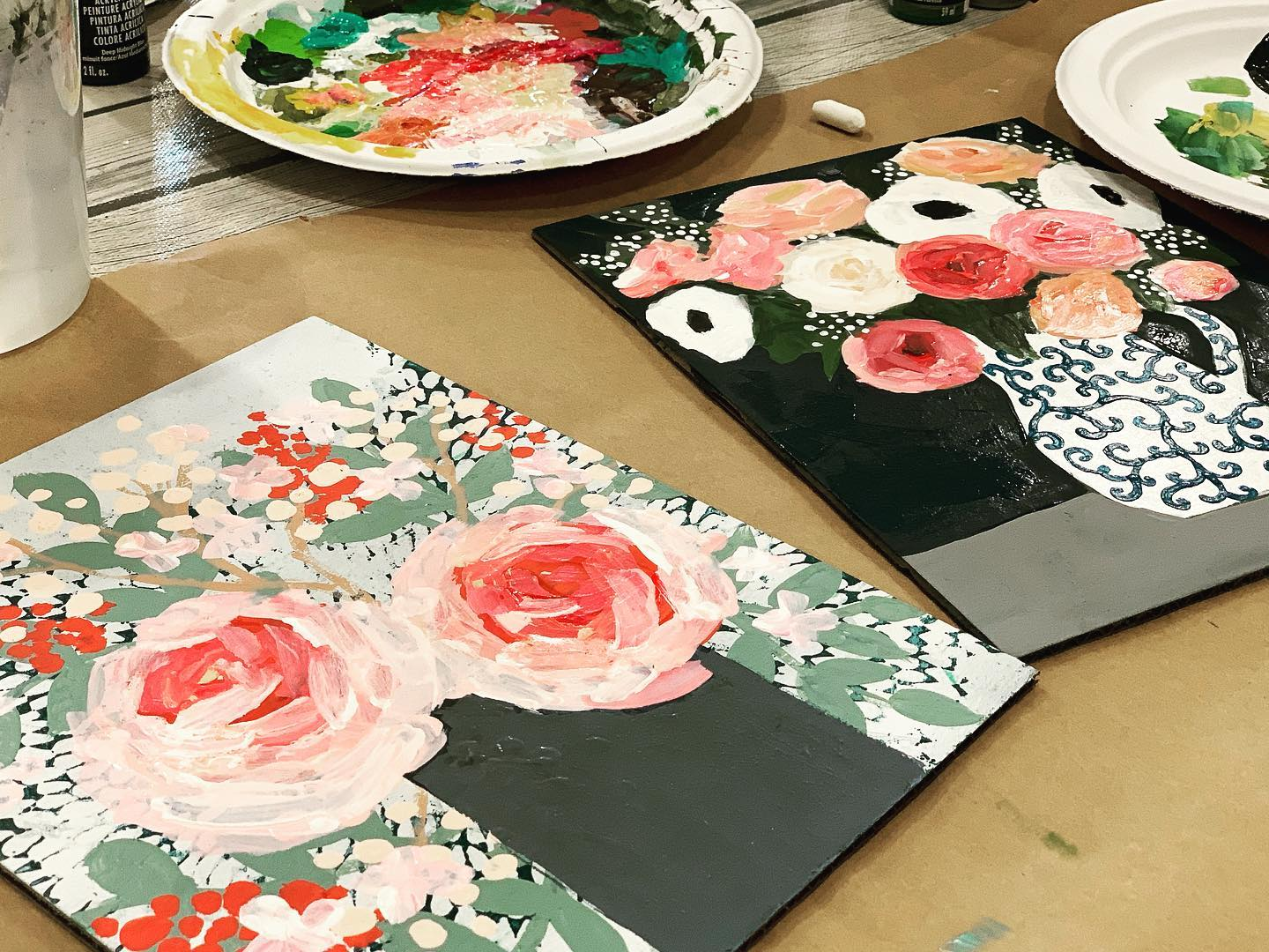 The Little Shop Peinture february flowers - floral paintings and supplies i use