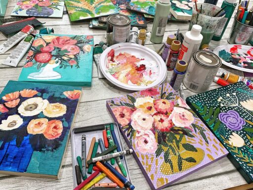 February Flowers - Floral Paintings and Supplies I Use #28februaryflowers