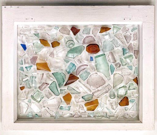 Window Pane Decoration Ideas - Window with Glass Pieces Broken & whole Mosaics