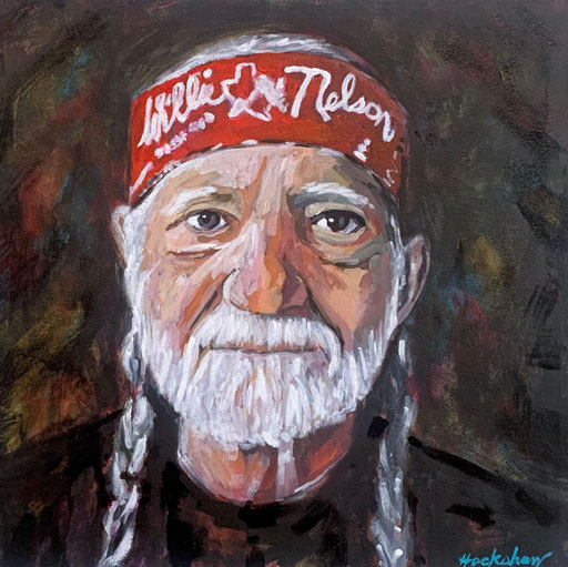 Willie Nelson Painting - Painting Time Lapses of Dolly Parton and Willie Nelson