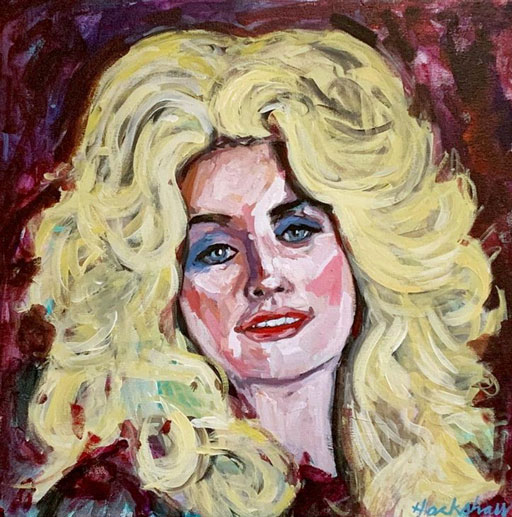Dolly Parton Painting - Painting Time Lapses of Dolly Parton and Willie Nelson