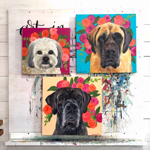 Dog Painting Commissions by Artist Ashley Hackshaw