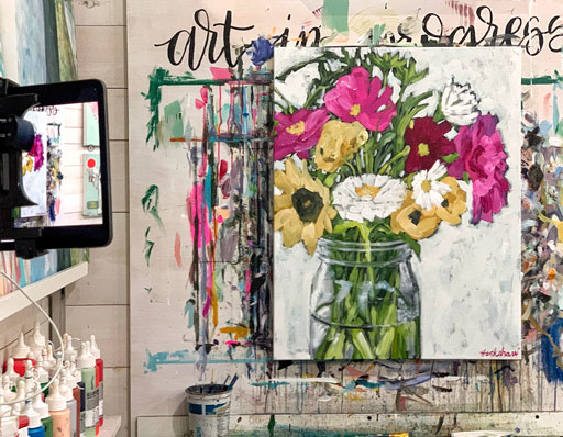Flowers in a Jar Painting Time-lapse