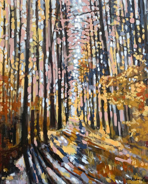 Fall Landscape Painting Time Lapse - Fall in the Smoky Mountains